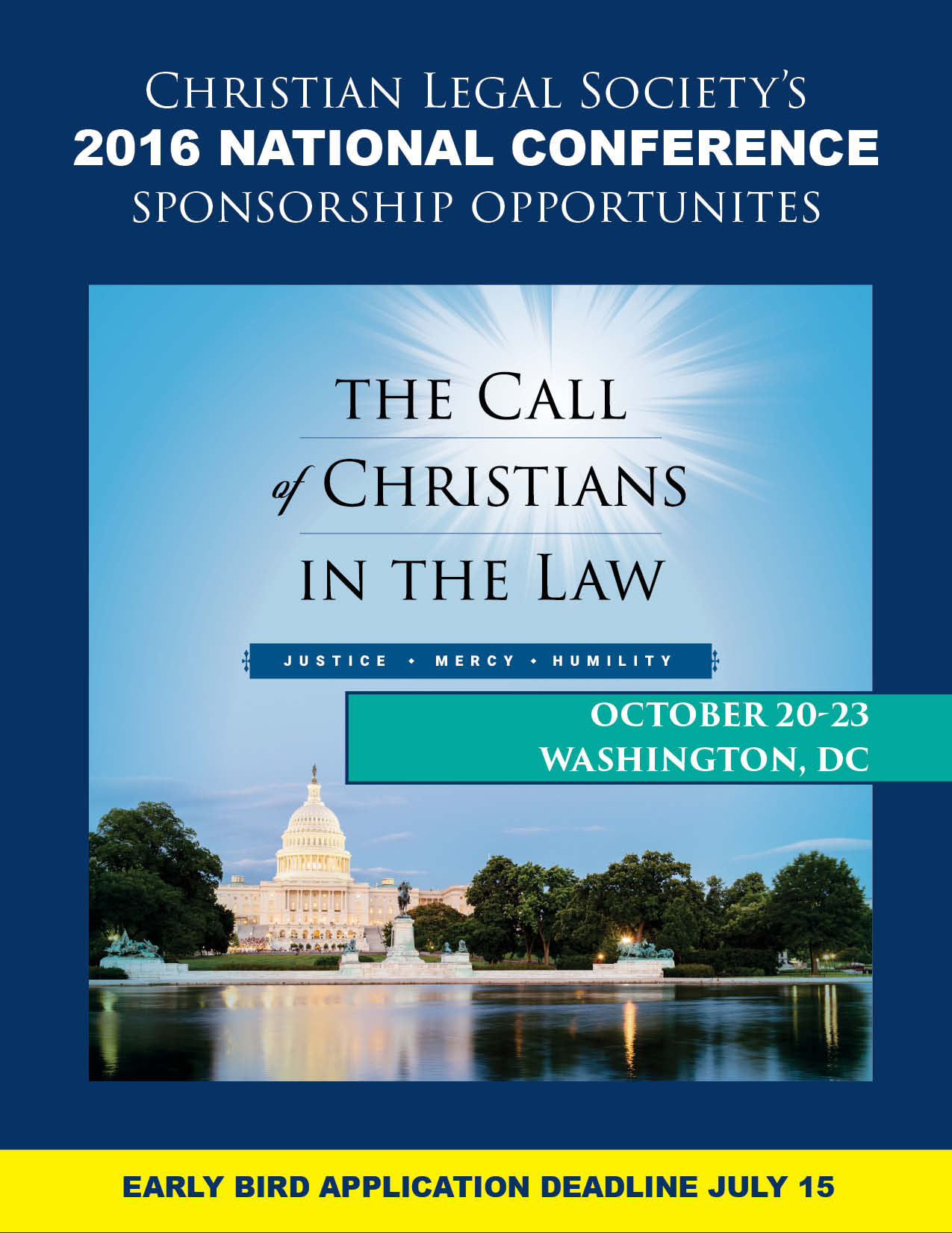 Christian Legal Society: 2016 Conference Sponsorship