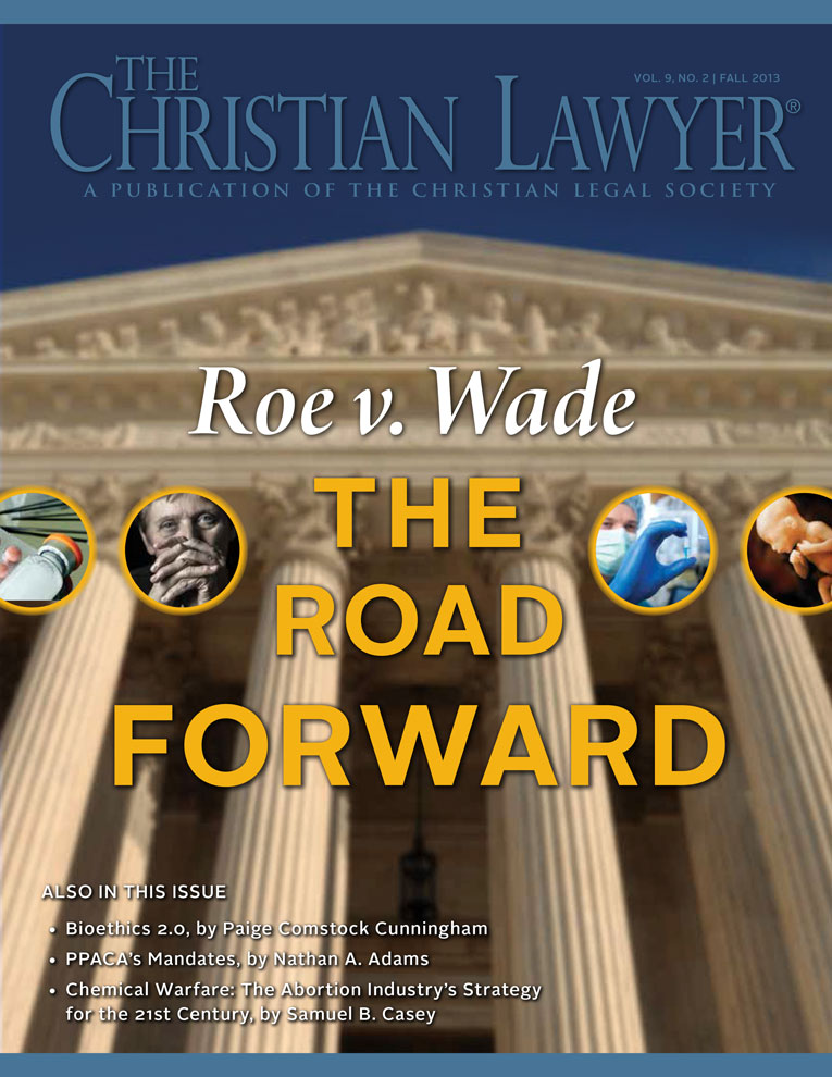 The Christian Lawyer - Fall 2013