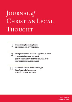 The Journal of Christian Legal Thought - Summer 2013
